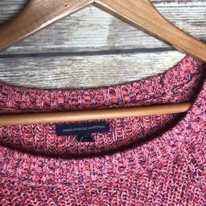 American Eagle Outfitters Sweaters - AEO marled pink chunky cable knit sweater pullover